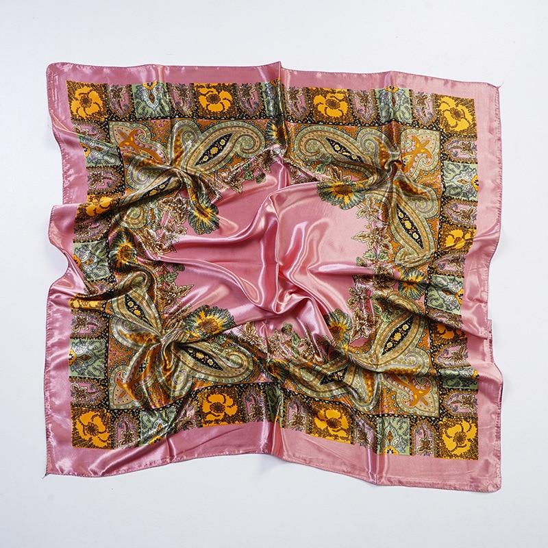 Yishine 90*90 CM 6Colors Silk Scarf Women Bohemia Flower Big Cashew Nuts Print Multifunctional Large Square Scarves Foulard Wrap