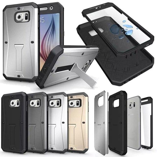 Avenir à chaud Cas Extrême Pour Samsung S6 Silicone Antichoc Armure Forte Dur de Couverture Cas pour Samsung Galaxy S6 G9200 Defender