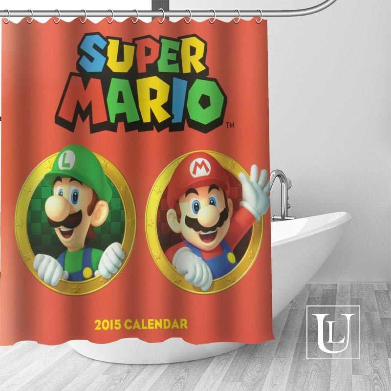 Пользовательские Марио занавес Современная тканевая для душа занавеска ванная комната Красивая занавеска s Ванна Декор полиэстер ткань водонепроницаемый