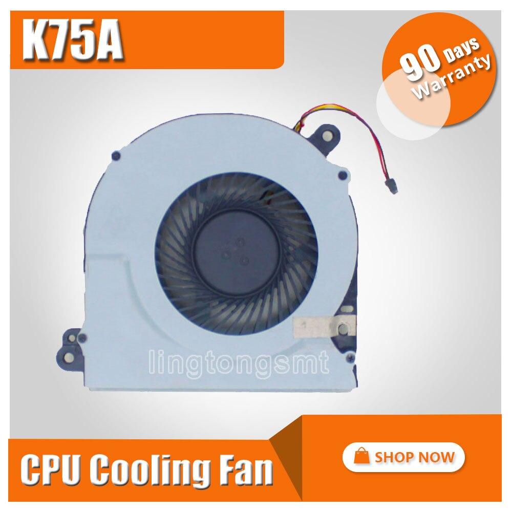 For ASUS Laptop CPU Cooling Fan R700V K75 K75A K75D K75DE K75V K75VD K75VM FAN DC28000AQD0 MF75120V1-C140-G99 KSB06105HA-BK08 for asus u46e heatsink cooling fan cooler