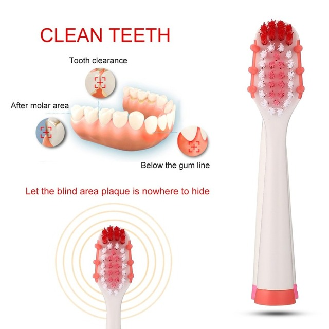2pcs Electric Toothbrush Replaceable Heads Sonic Seago Tooth Brush Head for SG-880 Electric Toothbrush Deep Clean Teeth Care