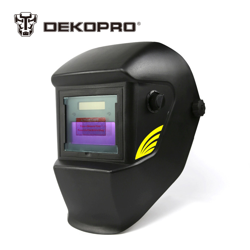 DEKOPRO Basal Black Solar Auto Darkening MIG MMA Electric Welding Mask Helmet Welding Lens for Welding Machine or Plasma Cutter fire flames auto darkening solar powered welder stepless adjust mask skull lens for welding helmet tools machine free shipping
