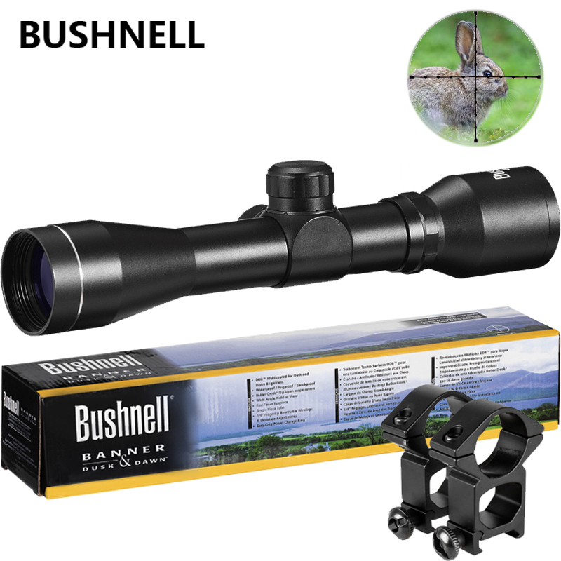 Bushnell Chasse Optique 4x32 Airsoft Optique Rifle Scope Sight Avec Rail Mount Précis Hd Lentille Extérieure Rifle Aluminium alliage