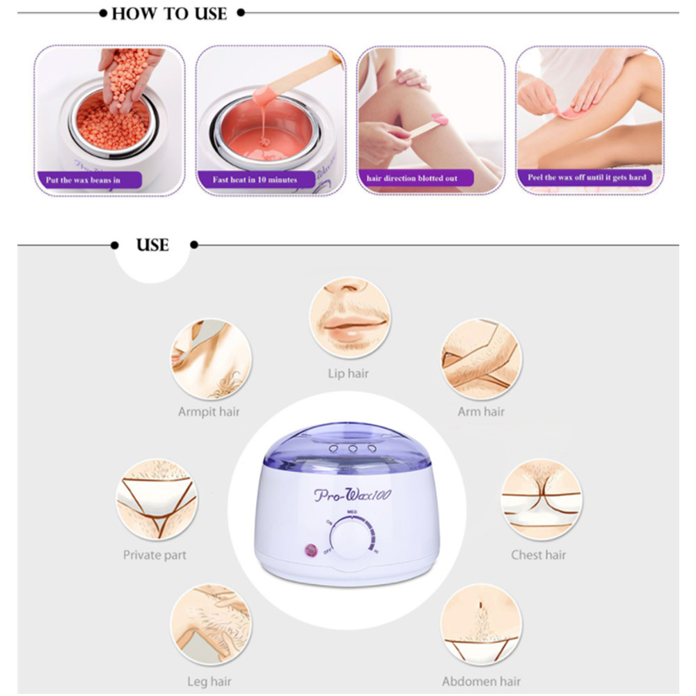Hot-Wax-Warmer-Heater-Machine-Epilator-Hair-Removal-Waxing-Beans-Depilatory-Wax-100g-Painless-Bean-Sticks (2)