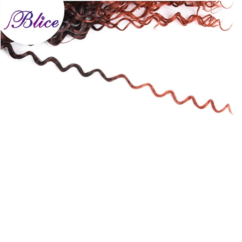 Blice Syntetisk Hår Vävning 10-24 tum Mix # T1B / 350 Vattenvåg - Syntetiskt hår - Foto 5