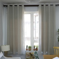 Buckle/Tube Curtain for living room blinds bedroom Bay Window Cotton Linen Semi shading finished Cloth Curtain drapes 140x215cm
