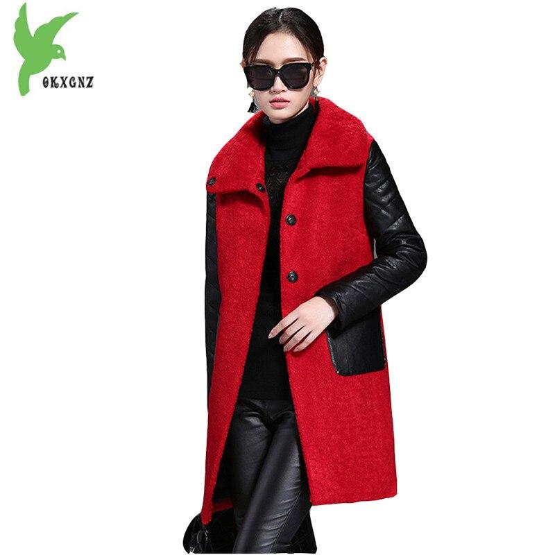 Mezza Cappotto Okxgnz light Delle Moda Casuale Tuta Size Età Boutique Tan Plus Cuciture Pelliccia Costume Donne Sportiva Lana red Black Sottile Di Faux Giacche New Fur wXO1S1