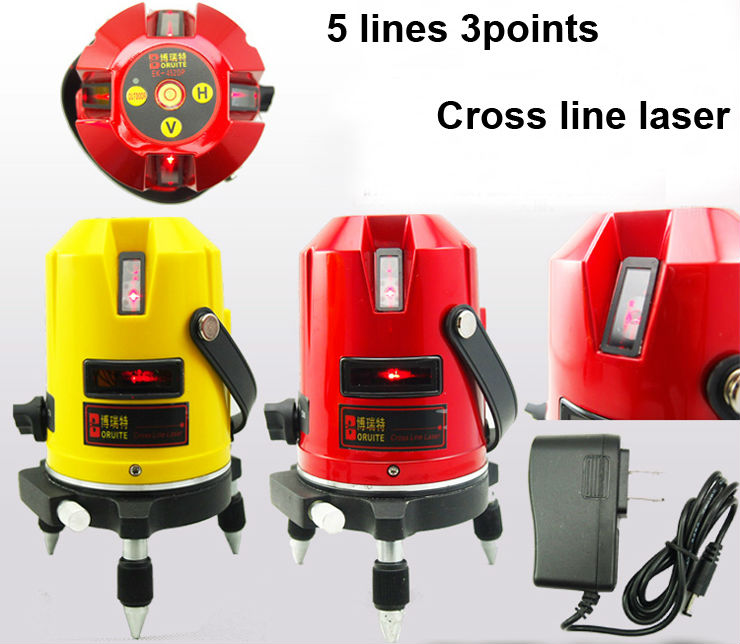 Free Shipping Hot sale 5 lines 3points Cross line laser,laser level,Professional laser line level rotary laser level EK-452DP kapro clamp type high precision infrared light level laser level line marking the investment line