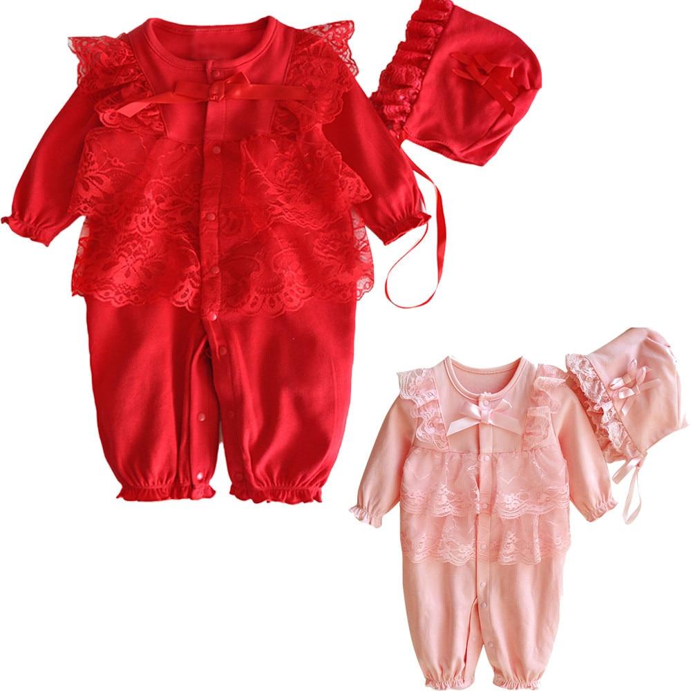 Newborn Infant Baby Girls Floral Lace Romper Bodysuit Jumpsuit Clothes Outfit