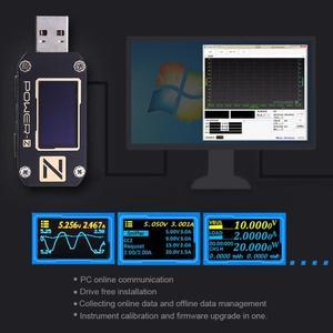 Image 3 - ATORCH POWER Z USB test cihazı tip c PD QC 3.0 2.0 şarj gerilim akım dalgalanma çift tip c KM001 volt metre güç banka dedektörü