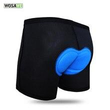 WOSAWE – Gel de cyclisme 3D pour hommes et femmes, coussin en silicone rembourré, sous-vêtements, Shorts, vélo de route, vtt, été, M-XXXL