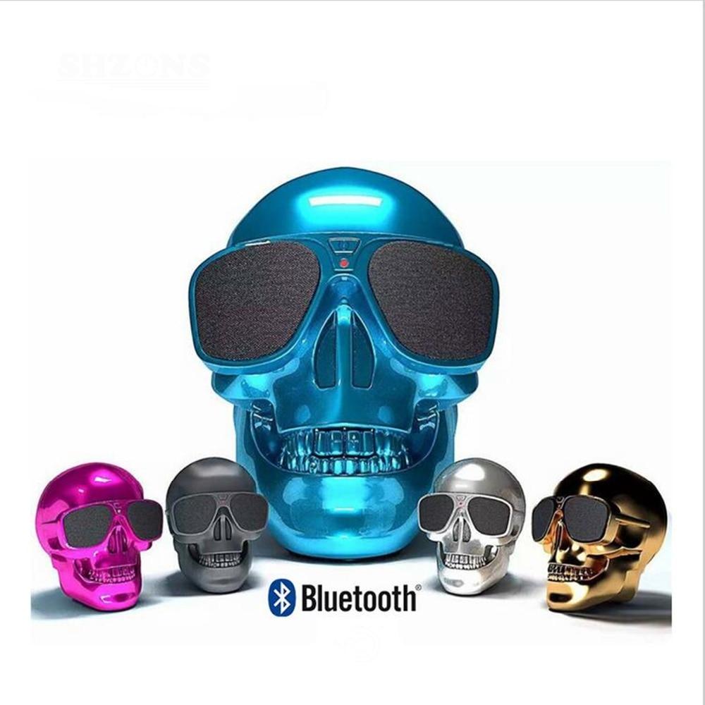Plastic Metallic SKULL Wireless Bluetooth Speaker Stereo Bluetooth 4.0,