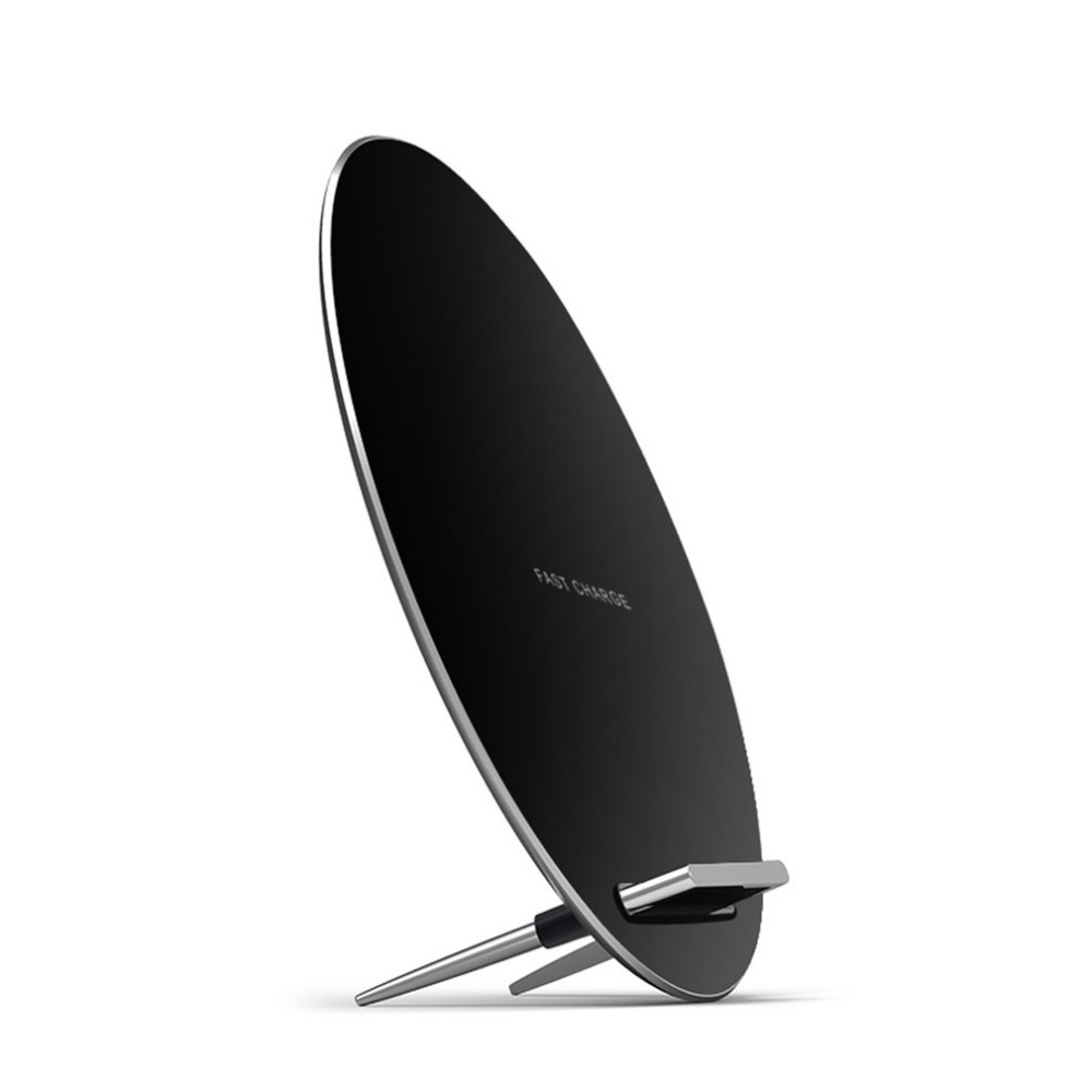 Onleny W7 Fast Wireless Charger Round Shaped QI Charging Pad Dock Station Mobile Phone Holder Support For Samsung For iPhone