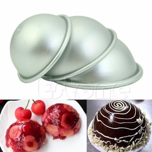 Hogar Paradise 1pc Diy Hemisphere Half Round Cake Pan Mold Chocolate - Diy-hogar