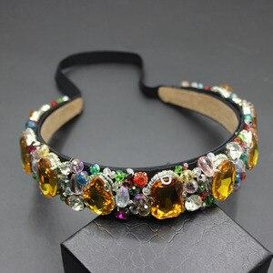 Image 2 - Perles à gemmes pour femmes vintage, bandeau à fleurs style baroque, bonne qualité, luxe, bijoux pour mariée, 609