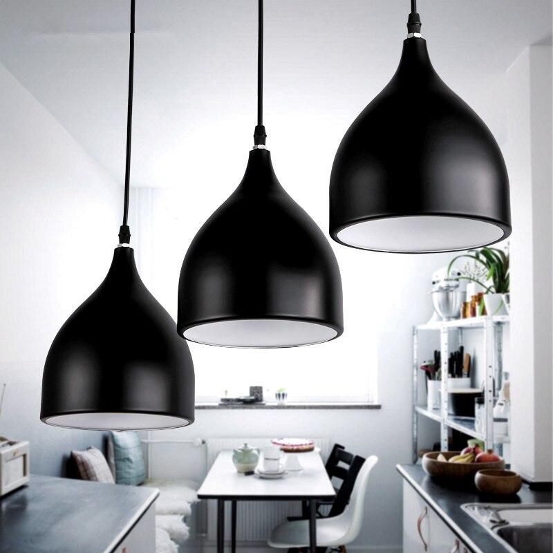 LED Hang lamp Vintage Loft Pendant Lights Aluminum Suspension luminaire Hanging Lightings Kitchen Restaurant Light Ceiling