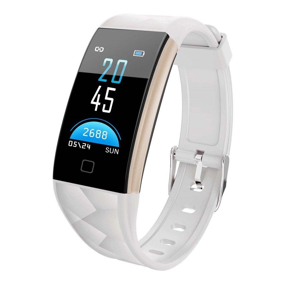 Для мужчин и женщин 0,96 дюймов TFT цветной экран Bluetooth фитнес Смарт часы монитор сердечного ритма Смарт браслет для Android для iOS системы