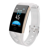 Men Women 0.96 inch TFT colorful screen Bluetooth Fitness Smart Watch Heart Rate Monitor Smart Band for Android for iOS system