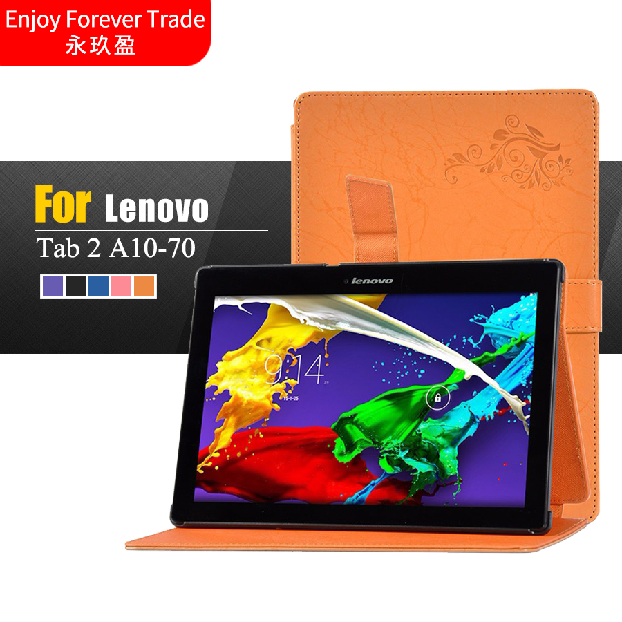 Flower ColorFul Print Tab2 A10 70 stand leather case cover for lenovo tab 2 A10 a10-70 A10-70F A10-70L tablet 10.1'' tablet case