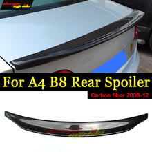 For Audi A4 A4a A4Q A4A B8 Rear Spoiler Tail Caractere Style High-quality Carbon Fiber Trunk Wing car styling 09-12
