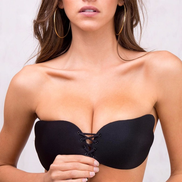 Sexy Femmes Silicone Invisible Soutien-Gorge Ultra Boost Push Up Soutien-Gorge  BH Dos cf2e6ff3323