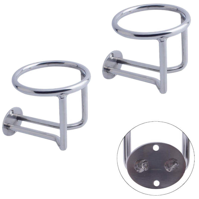 Boat Ring Cup Drink Holder Ringlike For Car Truck Marine Stainless Steel Polish