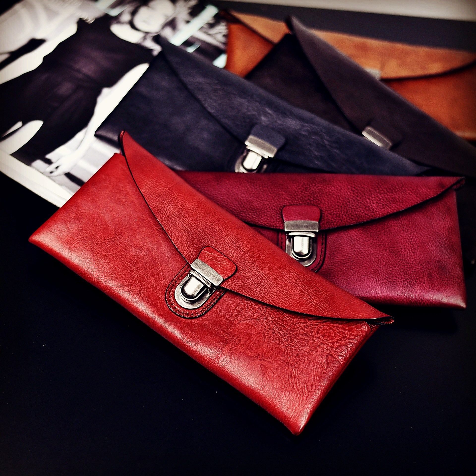 Original hand-made Cowhide leather hand-bag vegetable tanned leather Women