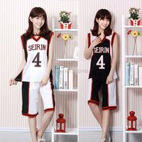 Anime Kuroko không Basuke Cosplay Costume SEIRIN School #4 Kagami Taiga Tetsuya Trắng Đen sportswear Jersey Bóng Rổ Uniform