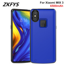 ZKFYS For Xiaomi MIX 3  Battery Cover Power Bank  Battery Charger Case 6500mAh Ultra Slim Backup Power Bank Fast Charging Cover цена 2017