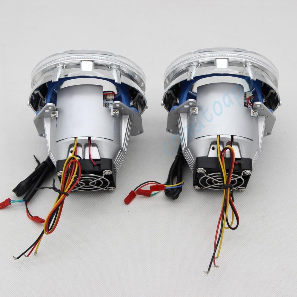 Bluetooth Wirless RGB Angel Eyes Cover Car LED LED - Ավտոմեքենայի լույսեր - Լուսանկար 6