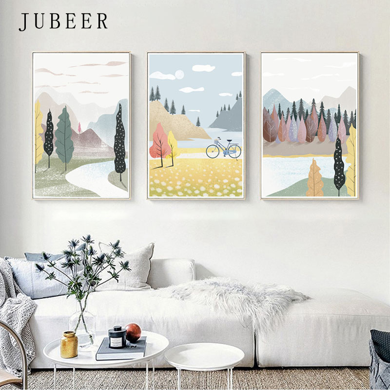 Us 3 17 47 Off Scandinavian Style Paintings On The Wall Picture Decor For Home Decoration Landscape Posters And Prints Living Room In