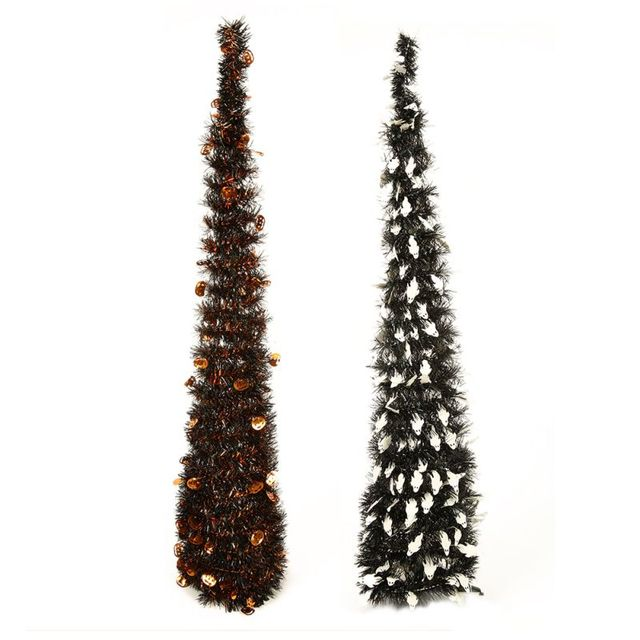 easy assembly collapsible tower shaped christmas tree tinsel coastal christmas tree for christmas decorations