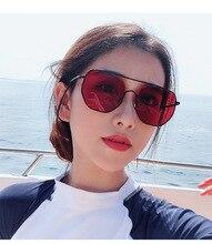 MARC Metal MEN Women sunglasses Korean fashion irregular Ocean lens sun glasses trendy Red Brand Designer  For Female Ladies
