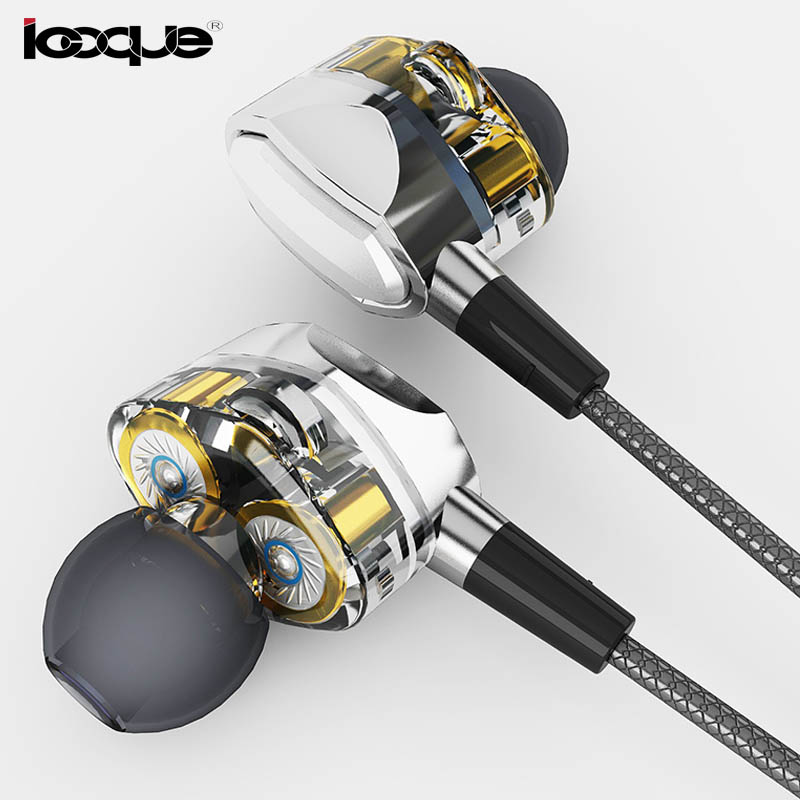 купить Icoque 3.5mm In-Ear Earphone HIFI Music Headphone Metal Earbud Wired Stereo Earphones With Microphone For iPhone 6 Phone MP3 PC дешево