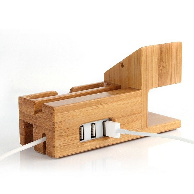 New Wooden Charger Dock for apple watch apple iwatch Wood Stand Mobile Holder for iPhone 6 Plus 5s