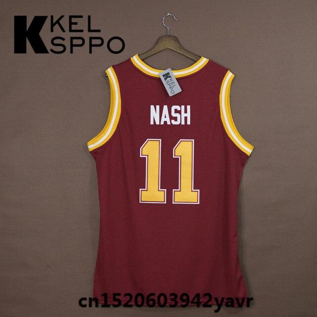 e00a32fff Custom Adult Throwback Basketball Jerseys #11 Steve Nash Santa Clara  Embroidered Basketball Jersey Size XXS-6XL