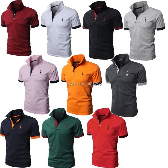0f81da096c Modern look de várias cores camisas pólo do algodão fino feito na coréia