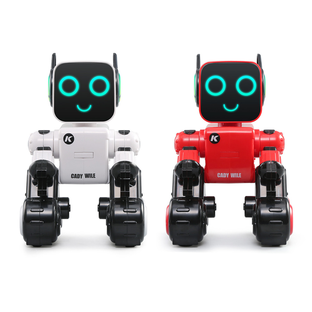 JJRC RC Robot Intelligent Programme De Noël Cadeau Jouets Interactive Sound Control Enregistrement Vocal Alerte le Transfert De Poste Insérer Des Pièces De Danse