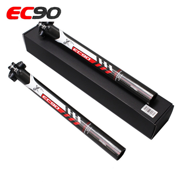 2017 Special new arrive EC90 3k MTB Bicycle seatpost Double nail road Bicycle seatpost carbon fibre bike seatpost bike parts