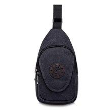 Fashion Men Messenger Bag Casual  Travel Casual Chest Bag Canvas Small Crossbody Shoulder Back Pack Rucksack