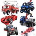 New Decool Car Set Toy building blocks bricks 3323 3333 sports car truck 599 GTB Technology Series F1 racing Technic gift boy