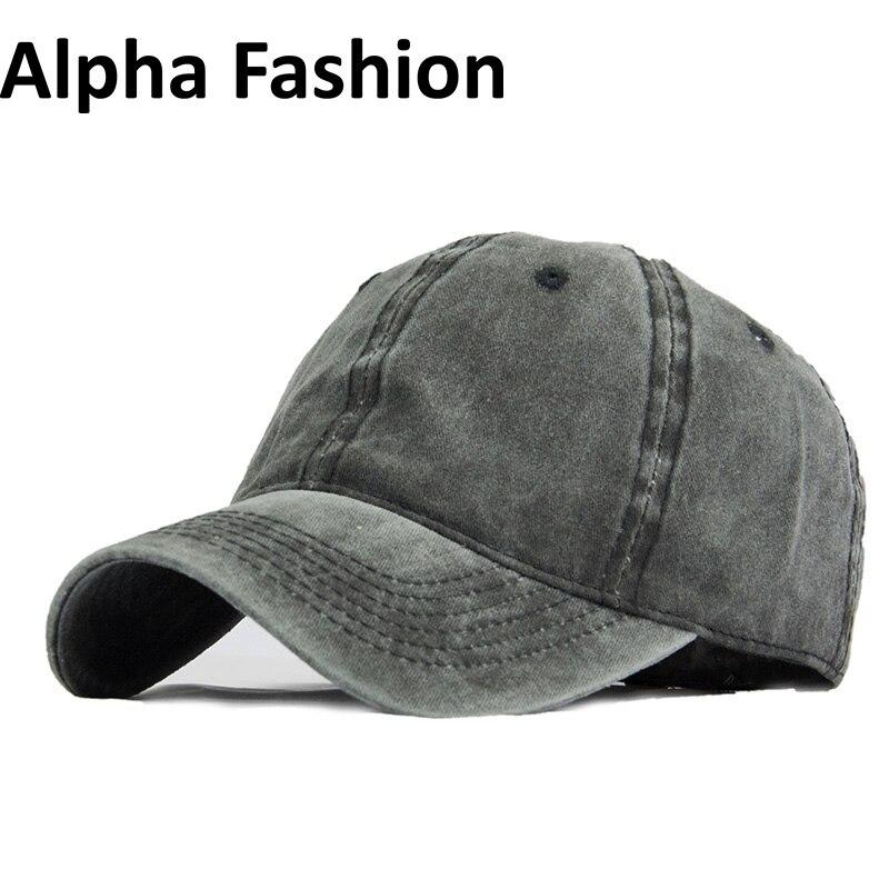 Alpha Fashion Spring Washed Cotton Baseball Cap Snapback