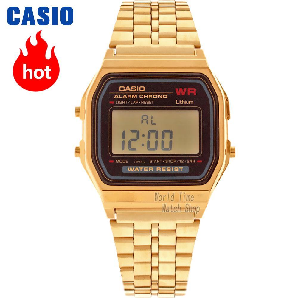 Casio montre à la mode casual petit or montre A168WA-1W A168WG-9W A159WGEA-1D A159WA-N1D A500WA-1D A500WGA-1D