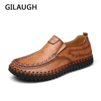 GILAUGH Casual Handmade Men Shoes High Quality Fashion Shoes Leather Men S Loafers Driving Shoes Spring