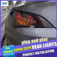 Автомобильный Стайлинг для Hyundai Rohens купе задняя фара 2009 для монеты заднего света автомобиля свет, светодиодные задние фонари свет с 2 шт.