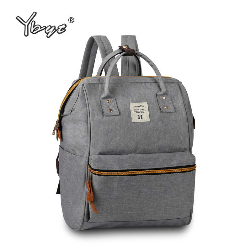 new medium canvas bookbags preppy style rucksack appliques women simple shopping pack ladies travel bags student
