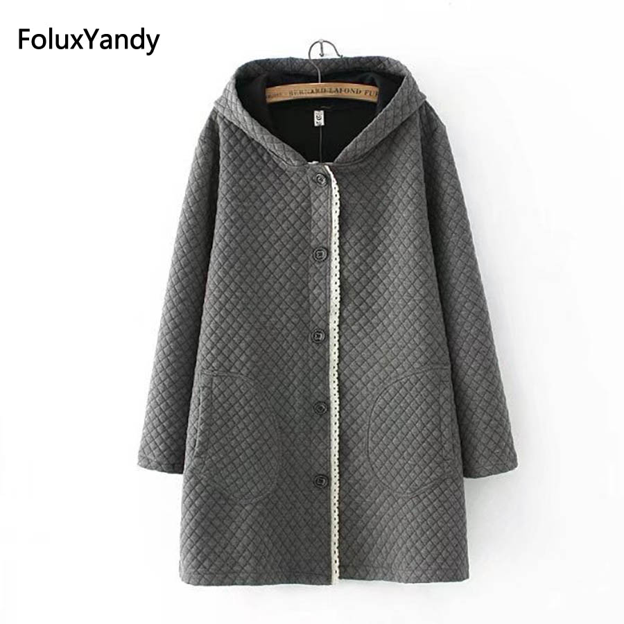 Autumn Trench Coat for Women Plus Size 3 XL Brand New Casual Hooded Long Trench Outerwear KK4135