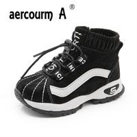 Aercourm A 2018 Children Sports Shoes Fall Winter Girls Skid Sneakers Boys Warm Fashion Soft Bottom