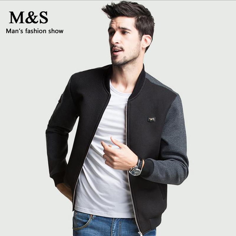 Manshow Men Fall Fashion Baseball Jacket Men's Casual Jacket Youth ...