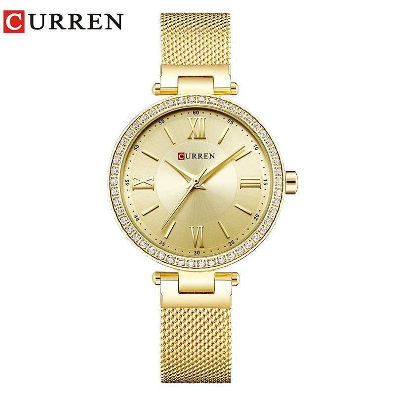 CURREN 9011 Watch Women Casual Fashion Quartz Wristwatches Crystal Design Ladies Gift relogio feminino dropshipping vintage women mini design wristwatches fashion casual leather simple quartz watch gift clock relogio feminino
